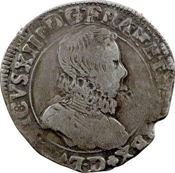 Louis XIII, demi-franc 5e type, 1616 Lyon