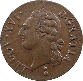 Louis XVI, demi-sol de bronze, 1787 Metz