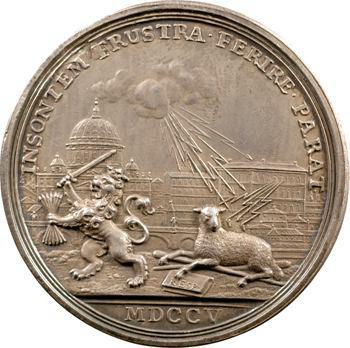 Pays-Bas, médaille de Pierre Codde, archevêque de Sébaste, 1705