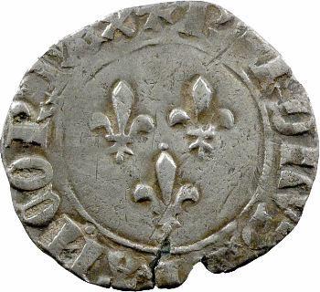 Charles VII, blanc aux trois lis 1re émission, Saint-Pourçain
