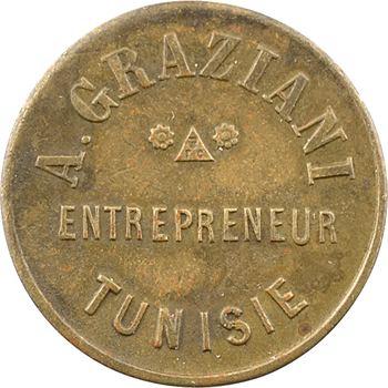 Tunisie, entrepreneur Graziani, 5 centimes, s.d