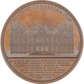 Second Empire, pose de la première pierre du Palais du Commerce à Lyon, 1856 Lyon