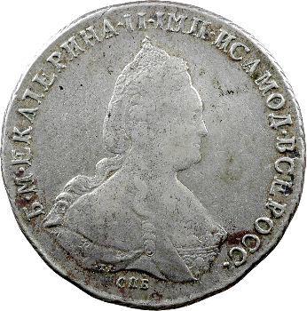 Russie, Catherine II, rouble, 1787 Saint-Pétersbourg