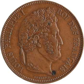 Louis-Philippe Ier, module de 5 francs, anniversaire du 30 juillet 1830, 1832 Nantes