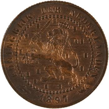 Pays-Bas, Wilhelmine, 1 cent, 1897