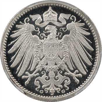 Allemagne (empire d'), 1 mark, 1906 Karlsruhe PROOF/ POLIERTE PLATTE, PCGS PR67DCAM