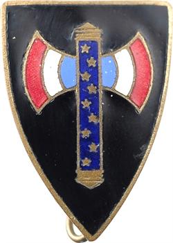 IIe Guerre Mondiale, insigne, francisque sur fond noir, s.d. Paris