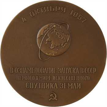 Russie (U.R.S.S.), lancement réussi du Spoutnik (aéronautique), 1957