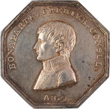 Premier Empire, jeton des Agents de change de Paris transformé en médaille de mariage, An 9 (1801)-1808 Paris