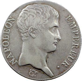Premier Empire, 5 francs tête nue, calendrier grégorien, 1807 Bayonne