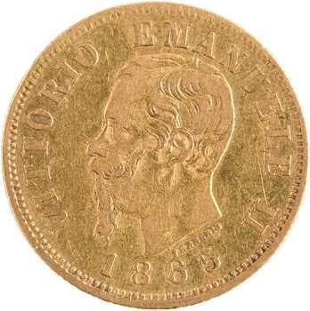 Italie (royaume d'), Victor-Emmanuel II, 10 lire, 1865 Turin