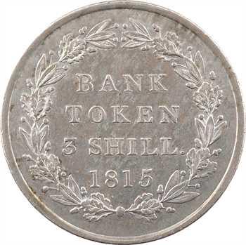 Royaume-Uni, Georges III, token de 3 shilling, 1815 Londres