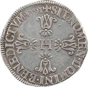Henri IV, demi-franc, 1591 Châlons-en-Champagne