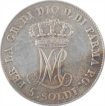 Italie, Parme (duché de), Marie-Louise, 5 soldi, 1830 Milan