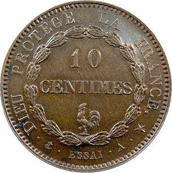 Louis-Philippe I, essai du 10 centimes au coq