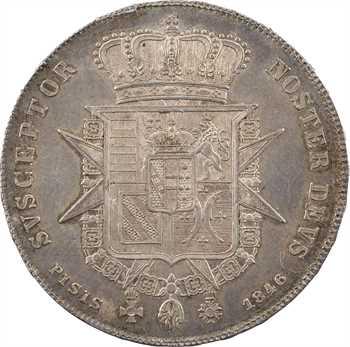 Italie, Toscane (Grand-duché de), Léopold II, francescone, 1846 Florence