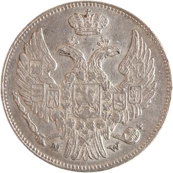 Pologne (occupation russe), Nicolas Ier, 15 kopecks, 1839 Varsovie