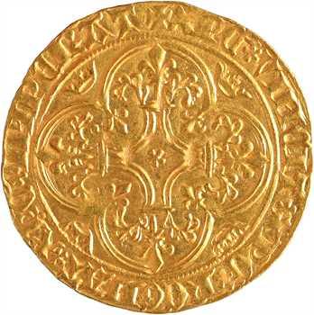 Charles VI, écu d'or à la couronne 4e émission, Villeneuve-lès-Avignon