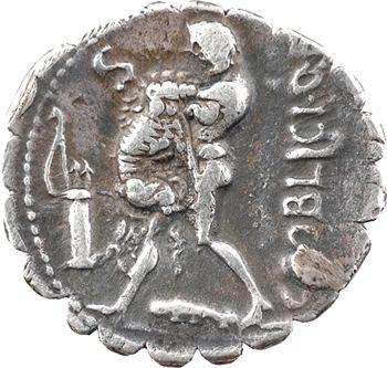 Poblicia, denier serratus, Rome, 80 av. J.-C.
