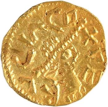 Aquitaine, Saint-Étienne de Fursac (Creuse), trémissis du monétaire Medulfo, c.600-650