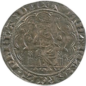 Moyen-âge, jeton de compte au type de la chaise d'or de Philippe IV
