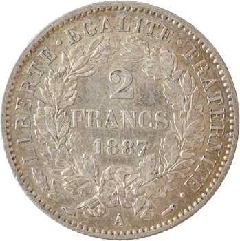 IIIe République, 2 francs Cérès, 1887 Paris