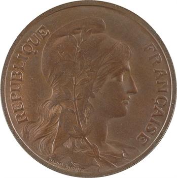 IIIe République, pré-série de 10 centimes Daniel-Dupuis flan mat, 1897 Paris