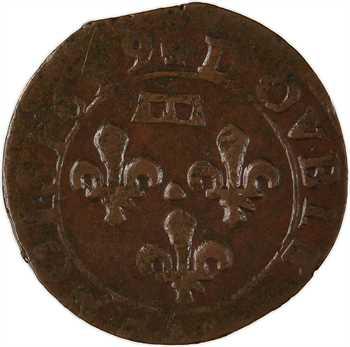Dombes (principauté des), Gaston d'Orléans, double tournois 11e type, 1639 Trévoux