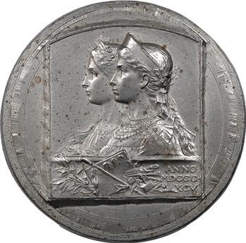 Russie, poinçon de la médaille Exposition des artistes français russes par F. Rasumny, 1895