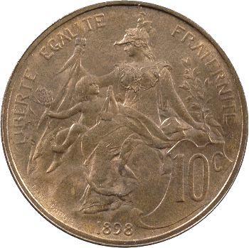 IIIe République, 10 centimes Daniel-Dupuis, 1898 Paris