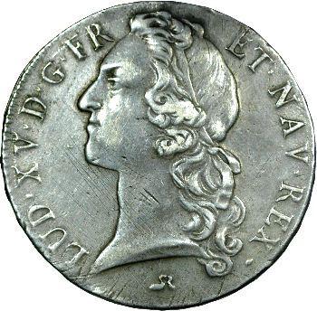 Louis XV, écu au bandeau, 1743 Rouen