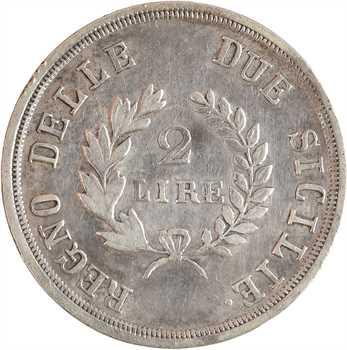 Italie, Naples et Deux-Siciles (royaume de), Murat, 2 lire 1813 Naples
