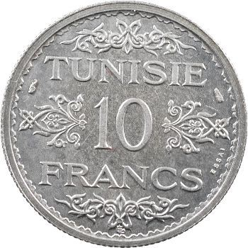 Tunisie (Protectorat français), Ahmed, essai de 10 francs, AH 1353 (1934) Paris