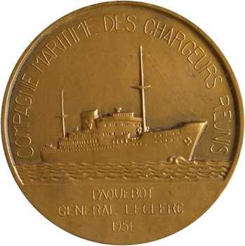 Compagnie Maritime des Chargeurs Réunis, le paquebot Général Leclerc, par Fraisse, 1951 Paris