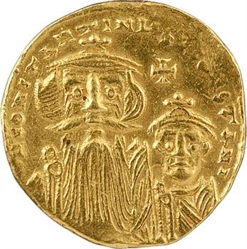 Constant II et Constantin IV, solidus, Constantinople, officine indéterminée, 654-659