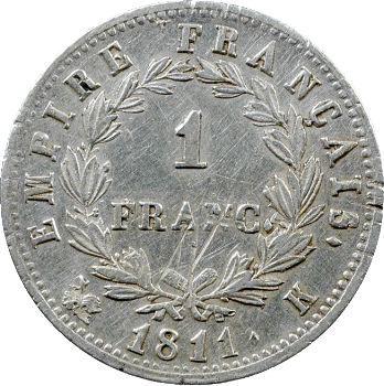 Premier Empire, 1 franc Empire, 1811 Bordeaux