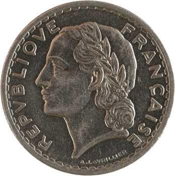 IIIe République, 5 francs Lavrillier en nickel, 1938 Paris
