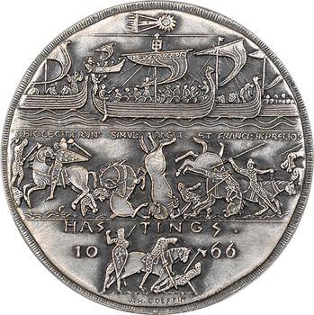 Royaume Uni/France, 9ème centenaire de la Bataille d'Hastings, par Coëffin, N°105/500, 1066-1966 (1977) Paris