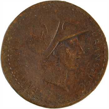 Consulat, essai biface du 2 décimes de Lorthior, s.d. (An 8) Paris