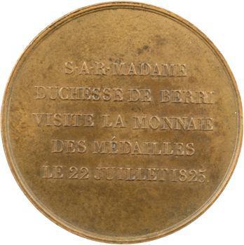 Charles X, la duchesse de Berry visite la Monnaie  de Paris, 1825 Paris
