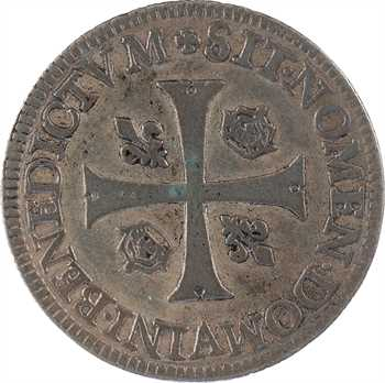 Charles IX, piéfort en billon d'un douzain aux 2 C couronnés, type non adopté, 1573 Paris
