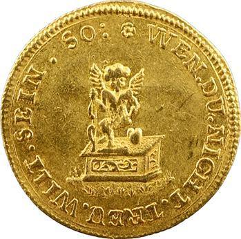 Allemagne, Saxe, Auguste II de Pologne, module de ducat Amour, s.d. (1694-1733)