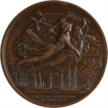 Russie/France, Second Empire, la prise de Bomarsund le 16 août, par Caqué, 1854 Paris
