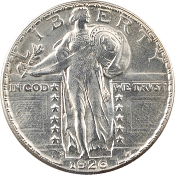 États-Unis, quarter dollar Standing Liberty (quart de dollar) 2e type, 1926 San Francisco