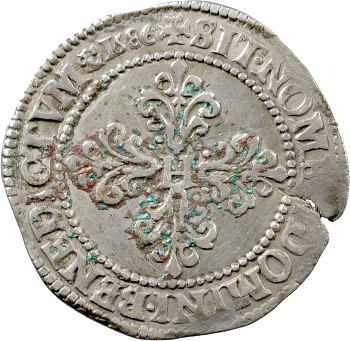 Henri III, demi-franc, 1586 Saint-Lô