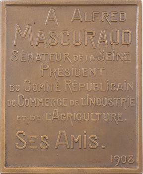Favre (M.) : Alfred Mascuraud sénateur de la Seine, 1908 Paris