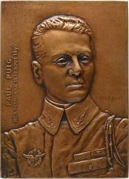Aéronautique, Paul Puig, mort en service aérien, par Gilbault, 1918 Paris