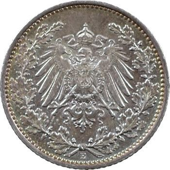 Allemagne (Empire d'), 1/2 mark, 1912 Dresde
