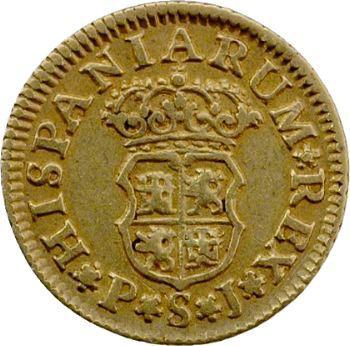 Espagne, Philippe V, demi-escudo, 1743 Séville