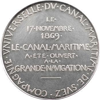 Égypte, Suez (Canal de), médaille de Roty en argent, 1869 (ap. 1880) Paris